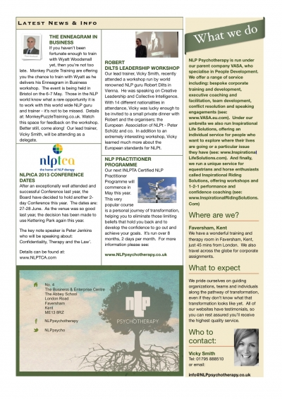 Spring Newsletter Page 2
